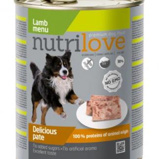 NUTRILOVE Premium pasztet dla psa z jagnięciny 800g [11443]