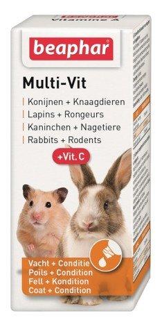 BEAPHAR MULTI-VIT SM. ANIMAL + VIT.C 20ML - preparat witaminowy dla królików i gryzoni
