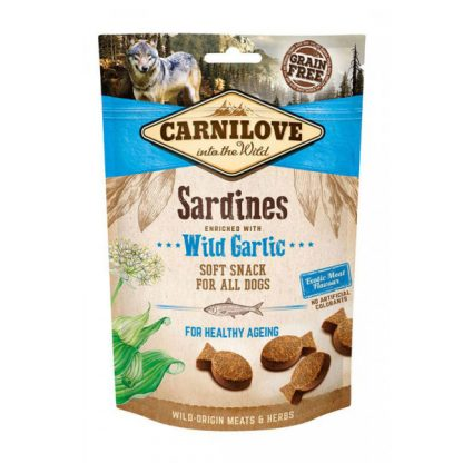 CARNILOVE SEMI MOIST SNACK SARDINES ENRICHED WITH WILD GARLIC 200g