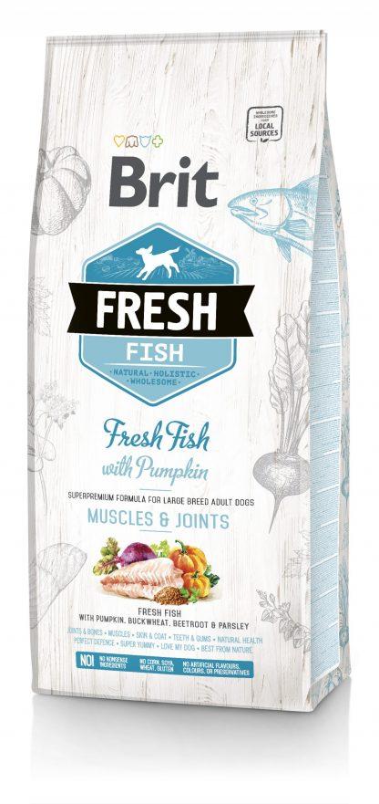 BRIT FRESH FISH WITH PUMPKIN ADULT LARGE 12 kg