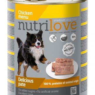 NUTRILOVE Premium pasztet dla psa z kurczaka 800g [11453]