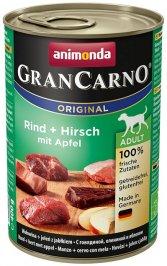 ANIMONDA GranCarno Orginal Adult puszki wołowina jeleń jabłko 400 g