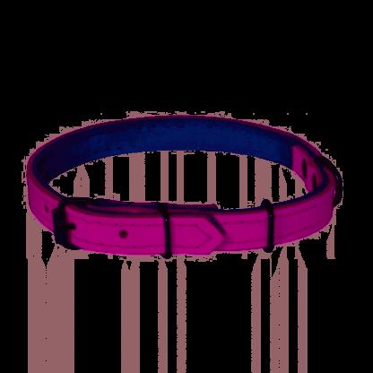 CHABA Obroża skórzana - 20-55cm Różowa