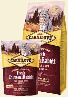 CARNILOVE CAT FRESH CHICKEN & RABBIT GOURMAND FOR ADULT 400g