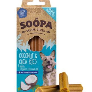 SOOPA Dental STICKS Coconut&Chia Seed 100g