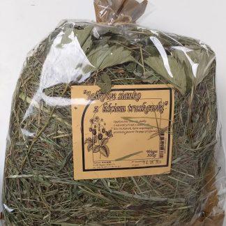 WIO-MAR Jaśkowe sianko z liściem truskawki 300g