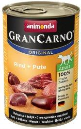 ANIMONDA GranCarno Orginal Adult puszki wołowina indyk 400 g