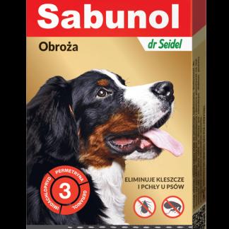 SABUNOL GPI obroża ozdobna czarna przeciw kleszczom i pchłom dla psów 50 cm