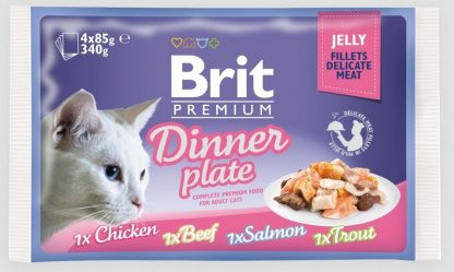 BRIT POUCH JELLY FILLET DINNER PLATE (4x85g)