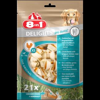8in1 Przysmak Delights Pro Dental Bones XS [T117261] 21 szt.
