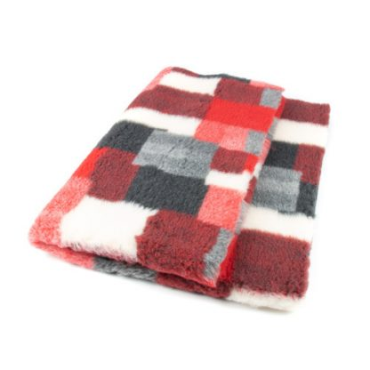 CANIFEL DryBed Posłanie (100x75) Patchwork Szaro Czerwony