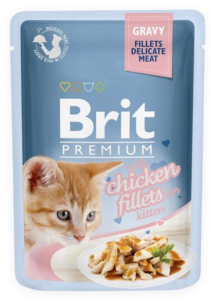 BRIT POUCH GRAVY KITTEN FILLETS CHICKEN 85 g