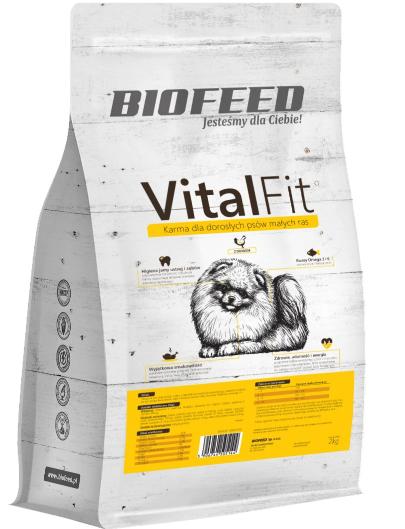 BIOFEED VitalFit - dorosłe psy małych ras (drób) 2kg