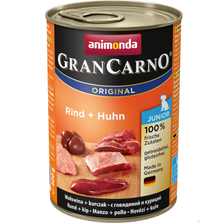 ANIMONDA GranCarno Orginal Junior puszki wołowina kurczak 400 g