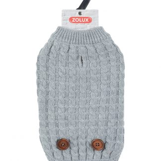 ZOLUX Sweterek Dandy z guzikami S35 szary [411465GRI]