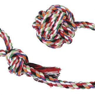 KERBL Zabawka dla psa lina z piłką