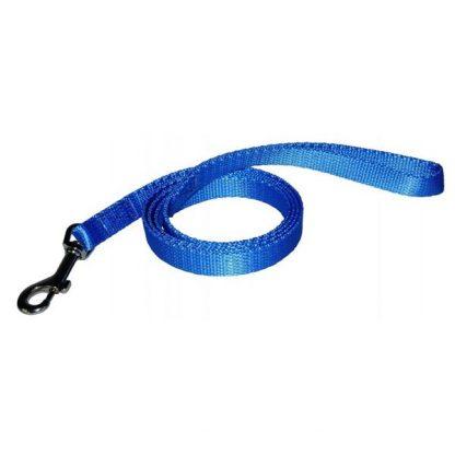 CHABA Smycz Gładka 25 - niebieska
