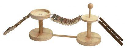 KERBL Zabawka/karmik mostek dla chomików 12 x 60 cm [82883]