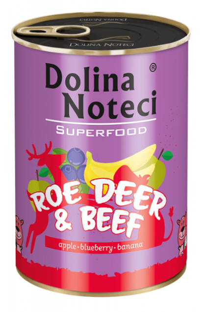 DOLINA NOTECI SUPERFOOD Sarna i wołowina 400g