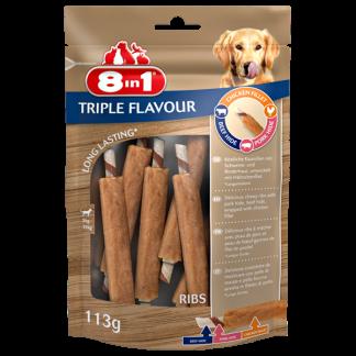 8in1 Przysmak Triple Flavour Ribs [T144700] 6 szt.
