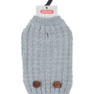 ZOLUX Sweterek Dandy z guzikami S40 szary [411466GRI]