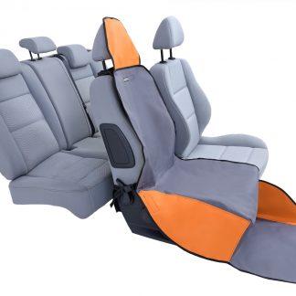 KARDIFF ACTIV na przedni fotel wymiar uniwersalny - POPIELATO-POMARAŃCZOWY
