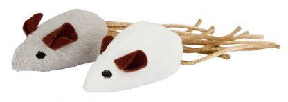 KERBL Zabawka mysz biało/szara [81648]