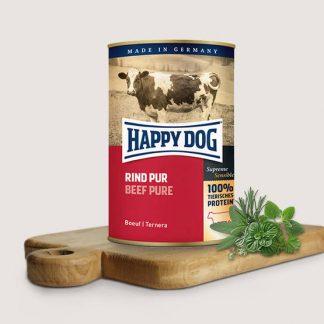 HAPPY DOG PUSZKA dla psa - WOŁOWINA (Rind Pur) 800g