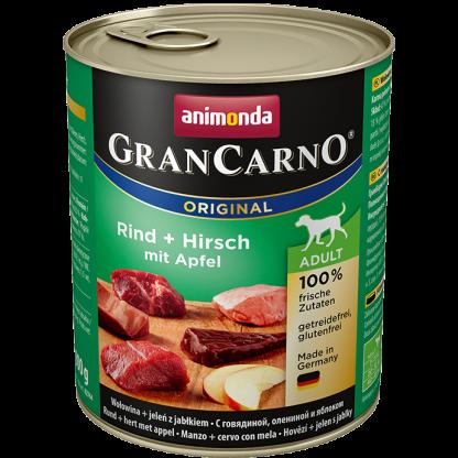ANIMONDA GranCarno Orginal Adult puszki wołowina jeleń jabłko 800 g