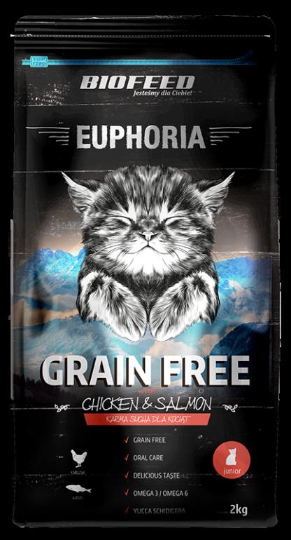 BIOFEED Euphoria JUNIOR CAT Grain Free Chicken&Salmon 300g