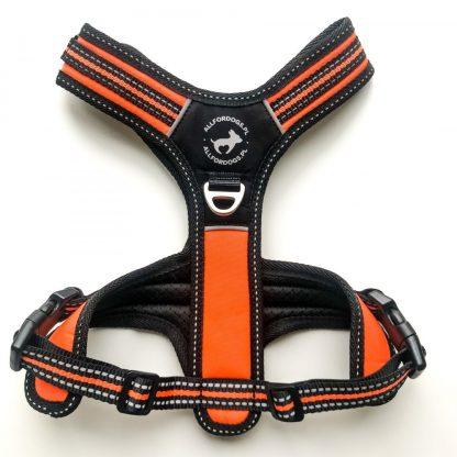 ALL FOR DOGS Szelki 3x-Sport Pomarańczowe S