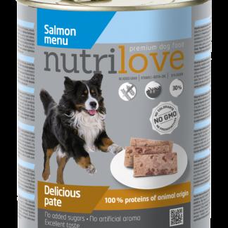NUTRILOVE Premium pasztet dla psa z łososia 800g [11444]