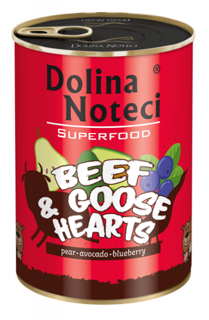 DOLINA NOTECI SUPERFOOD Wołowina i serca z gęsi 400g