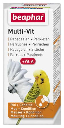 BEAPHAR MULTI-VIT PARROTS 20ML - preparat witaminowy dla papug