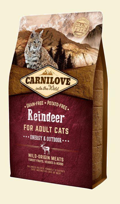 CARNILOVE CAT REINDEER ENERGY&OUTDOOR 2kg