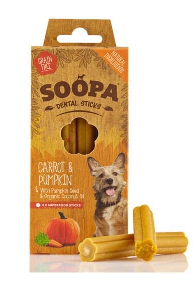 SOOPA Dental STICKS Carrot&Pumpkin 100g