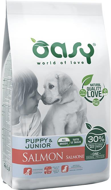 OASY ONE ANIMAL PROTEIN Puppy & Junior - Łosoś 2