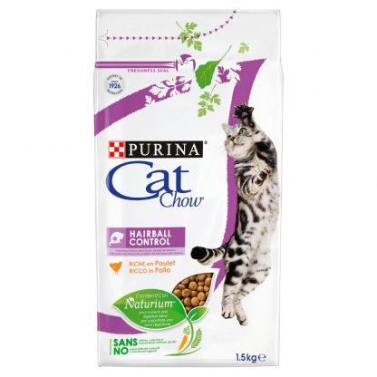 PURINA CAT CHOW SPECIAL CARE Hairball Control Bogata w kurczaka 1