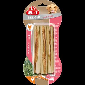 8in1 Przysmak Delights Pork Bone Sticks [T122135] 3 szt.