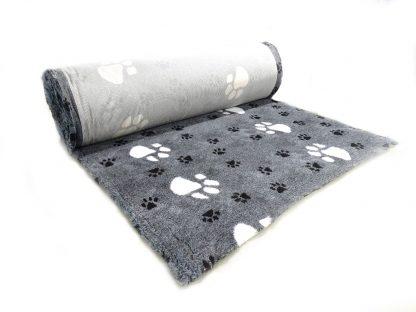 CANIFEL DryBed Posłanie (75x50) Big Paws Biało Czarny