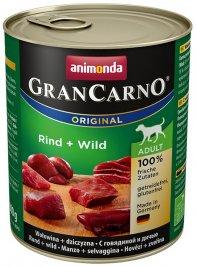 ANIMONDA GranCarno Orginal Adult puszki wołowina dziczyzna 800 g