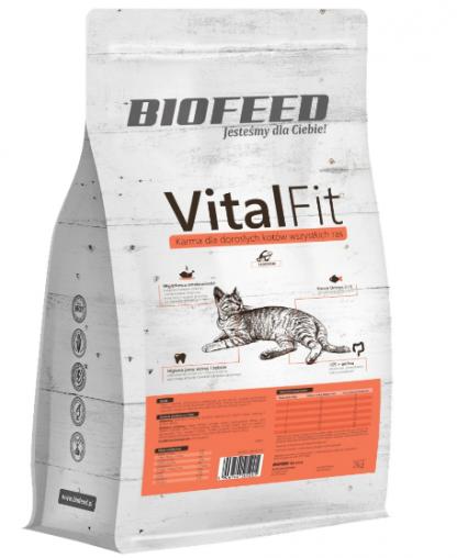 BIOFEED VitalFit - dorosłe koty wszystkich ras (łosoś) 2kg