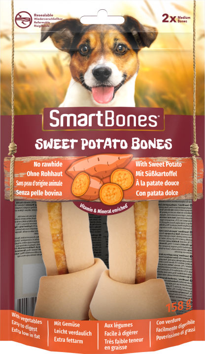 SMARTBONES Sweet Potato Bones Medium 2szt. [T027415]