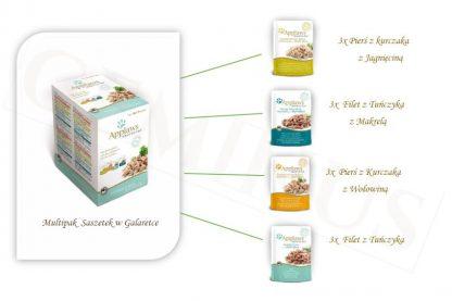 APPLAWS Multipack Mix Saszetek w Galaretce (Tuńczyk z Makrelą