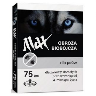 SELECTA Obroża biobójcza Max 75 cm czarna
