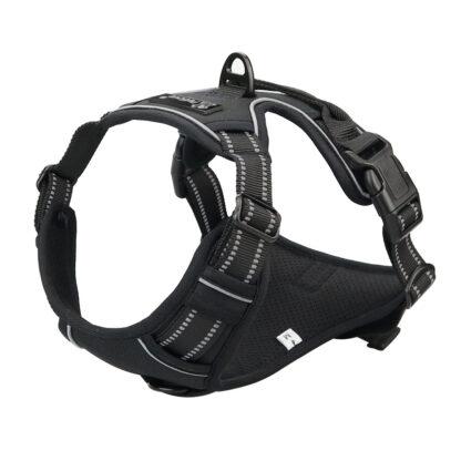 PETLOVE Szelki pełne odblaskowe dla psa S czarne [SZELPSBK]