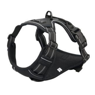 PETLOVE Szelki pełne odblaskowe dla psa M czarne [SZELPMBK]