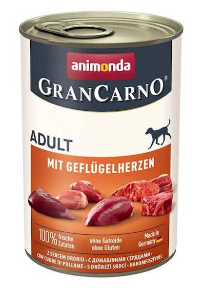 ANIMONDA GranCarno Orginal Adult wieprzowina z sercami drobiu 400g