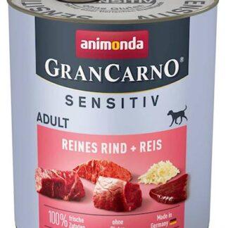 ANIMONDA GranCarno Sensitive Adult puszki czysta wołowina z ryżem 800 g