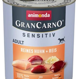 ANIMONDA GranCarno Sensitive Adult puszki czysty kurczak z ryżem 800 g